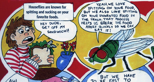 """detail from """"Our Gross Best Friends"""" in Brain Bug."""