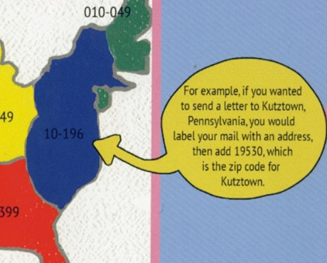 Kutztown, PA is on the map in BRAINBUG>