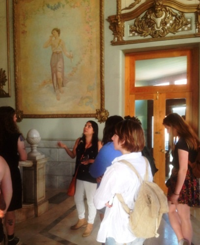 Mariana Rivera giving us a tour of the Opera House.