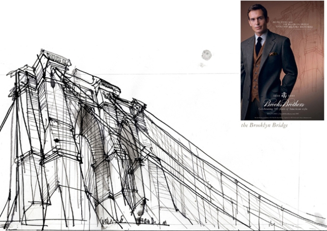 Brooklyn Bridge, detail, for Brooks Brothers, © Veronica Lawlor