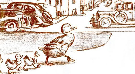 From Make Way For Ducklings © Robert McCloskey