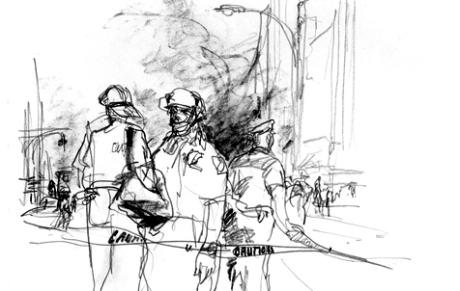 Police Barricades 0n 9/11/2001.© Veronica Lawlor
