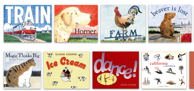 A small selection of his many picture books © Elijah Cooper