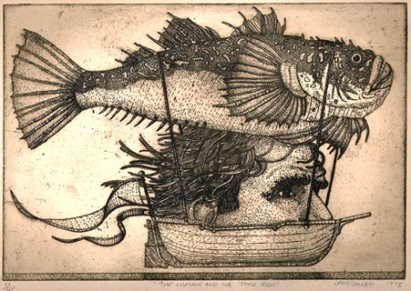 Etching © 1975 Chris Spollen