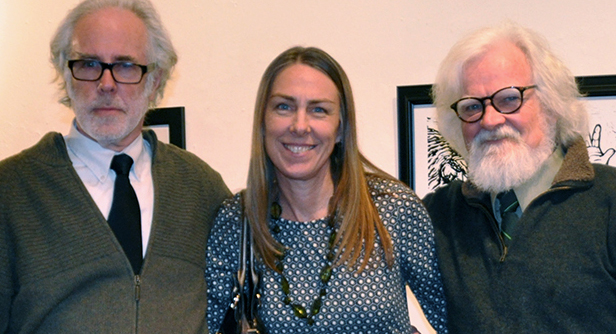Veronica Lawlor, with Chris Spollen and Kevin McCloskey, AFA Gallery Scranton.