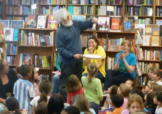150 children for Earth Day at Politics and Prose Bookstore, Wash, D.C.