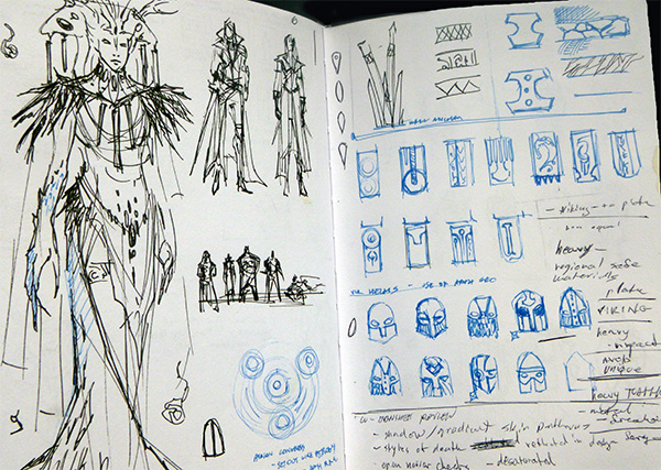 Michelle shared her sketchbook at Sketchbook Club © Michelle Davies