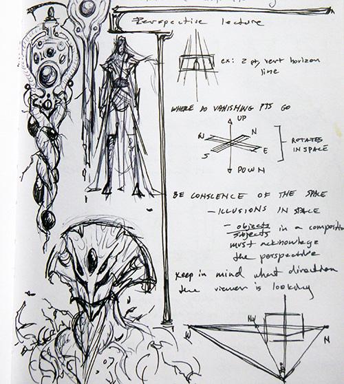 Sketchbook Detail © 2105 Michelle Davies