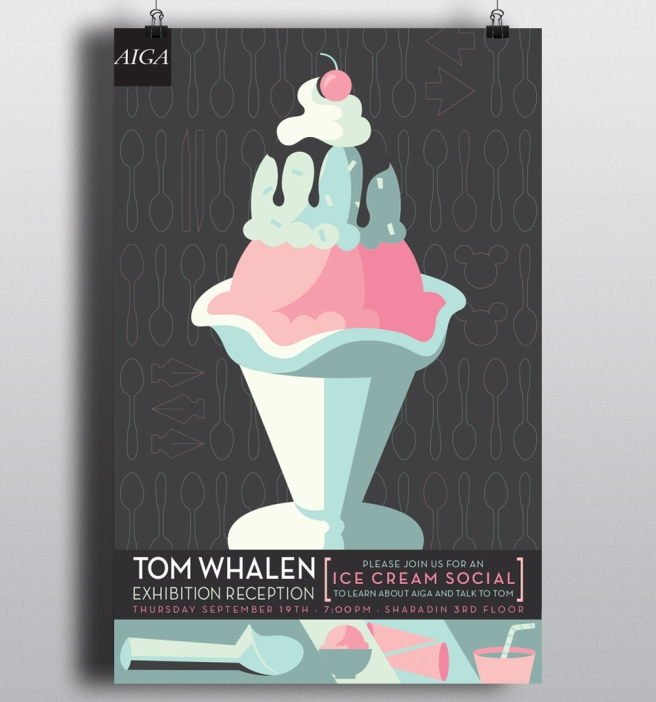 Tom Whalen at Kutztown, poster © Jamie Basile.