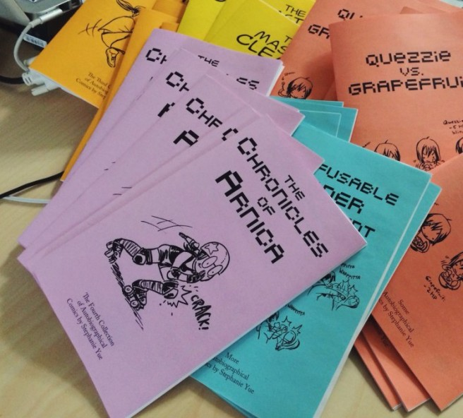Selection of Stephanie Yue's zines.