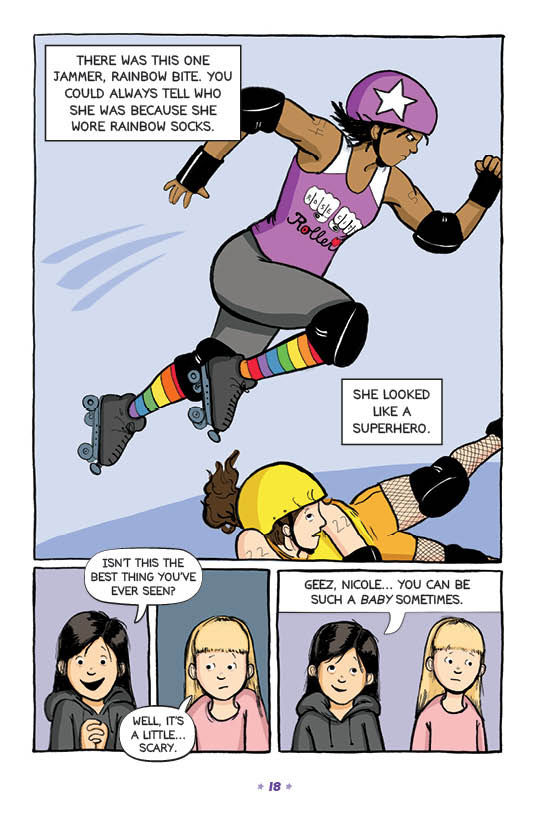 Page from Roller Girl ©2015 Victoria Jamieson