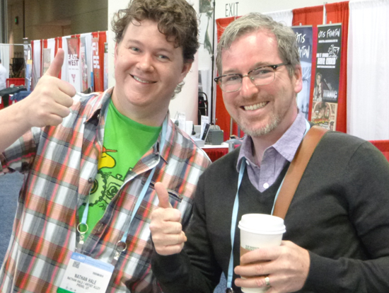Nathan Hale with Matt Phelan, two masters of the historical graphic novel.