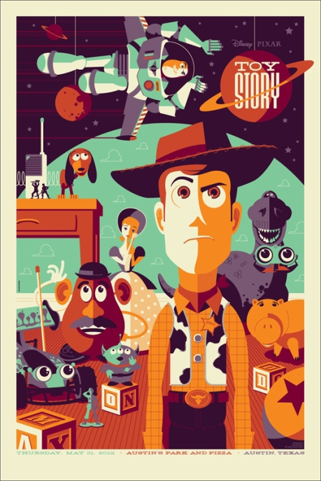 Toy Story poster for Mondo © Tom Whalen