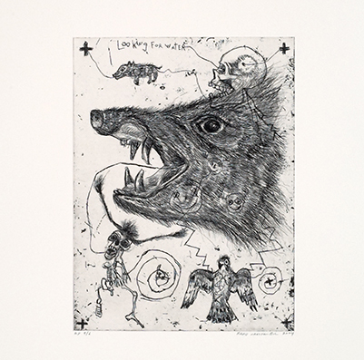 Brad Kahlhamer, Looking for Water, 2004, intaglio
