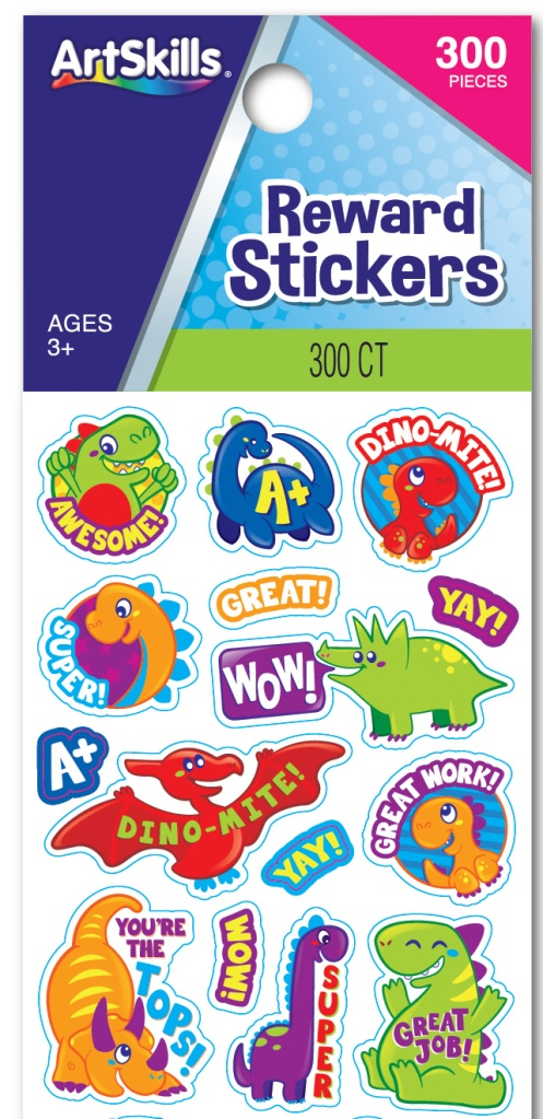 ArtSkills stickers and packaging detail by Aubry Cohen